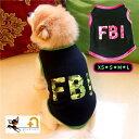 ペット用 犬用 洋服 ドッグウエア タンクトップ プルオーバー ノースリーブ ロゴ FBI カモフラ柄 ミリタリー バイピン…