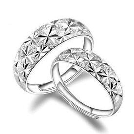 送料無料 ペアリング 指輪 リング アクセサリー 調整可能 おしゃれ かわいい カップル レディース メンズ 記念日 プレゼント ギフト
