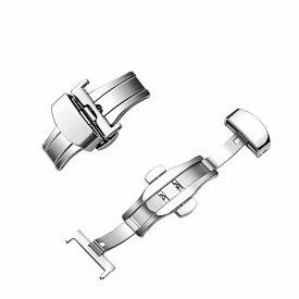 送料無料 尾錠 Dバックル 観音開き 両開き 取り換え用 替え 交換パーツ 腕時計 メンズ レディース アクセサリーパーツ シンプル ディプロイメントバックル かっこいい おしゃれ