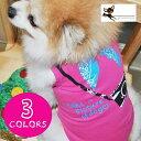 送料無料 犬服 ドッグウェア ドッグウエア プリントTシャツ ノースリーブ タンクトップ 袖なし カメラ バンダナ スカ…