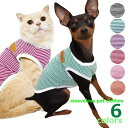 送料無料 ペット服 タンクトップ 犬 猫 ボーダー パイピング ノースリーブ 袖なし ドッグウエア キャットウエア お散…