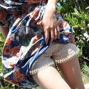 送料無料タップパンツ ペチパンツ 花柄レースペチコートパンツ・ショートパンツ フレアーパンツ キュロット レギンス …