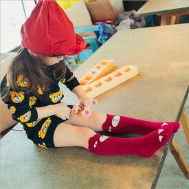 キッズソックス ベビーソックス 子供 キッズ ソックス 靴下 くつ下 くつした 子供ソックス ハイソックス 子供靴下 女の子用 男の子用 アニマルフェイス 動物 プリント 柄 シンプル おしゃれ 可愛い 配色