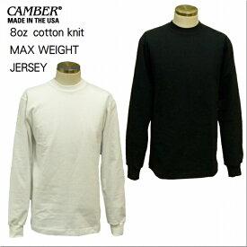 長袖Tシャツ アメリカ製 マックスウエイト ロンT ロングスリーブTシャツ 305 キャンバー CAMBER 8oz 極厚 無地 白 黒 レターパック対応