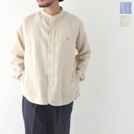 ダントン リネンクロス バンドカラーシャツ (JD-3607 KLS) LINEN CLOTH BAND COLLAR SHIRTS DANTON(メンズ) 【2020春夏】 *送料無料* ***