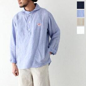 ダントン リネンクロス プルオーバーシャツ (JD-3568 KLS) LINEN CLOTH PULLOVER SHIRTS DANTON(メンズ) 【2020春夏】 *送料無料* ***