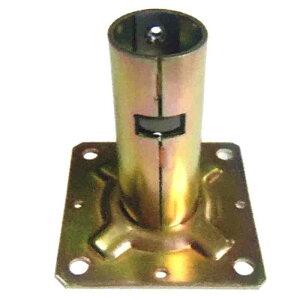 【代引不可】【60個入】 単管ベース ワンタッチ固定ベース 31.8用 J-1107 単管パイプジョイントベース J販