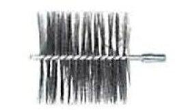 【セット】 煙突掃除 用 ネジ付ワイヤーブラシと延長継セット 150mm 約3.6m No.501806003 No.X0314【ホンマ製作所】