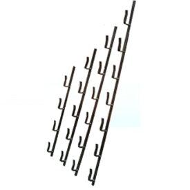 冬囲い落とし板用 冬囲い金物 十手型 3段 540mm ステンレス製 万能クリアガード対応 雪囲い アミ 代引不可