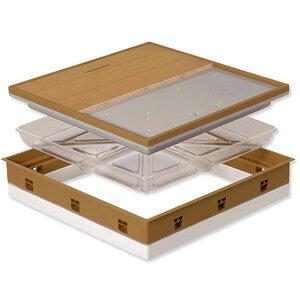 高気密型 床下点検口 断熱型600×600フローリング合わせT 板厚12mm専用 SPF-R60F12-UA1-MB 城東 アミ