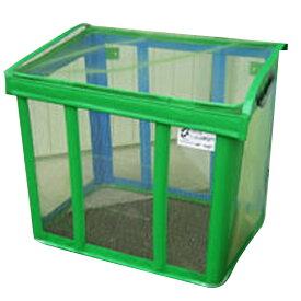 ゴミ枠ステーション グリーン GS-G-430 90x60x80 約430L カラス対策 折って畳んでコンパクト アイベックス 共B 代引不可 個人宅配送不可