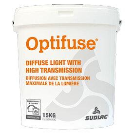 ビニールハウス用 太陽光拡散剤 水性塗料 オプティフューズ 15kg 温室用塗料 99%自然分解 ヨーロッパ SUDELAC カ施 代引不可
