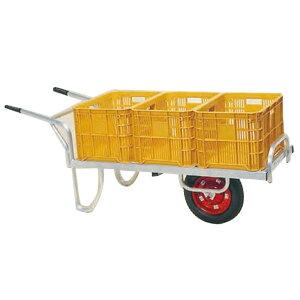 運搬車 コン助 アルミ製 平形一輪車 CN-60DN 20kgコンテナ3個用 ノーパンク ハラックス 防J 代引不可 個人宅配送不可 離島配送不可