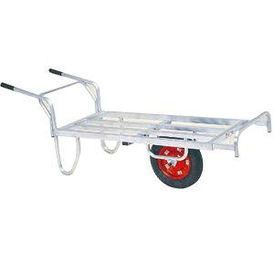運搬車 コン助 アルミ製 平形一輪車 CN-65DN ストッパー伸縮タイプ ノーパンク ハラックス 防J 代引不可 個人宅配送不可 離島配送不可