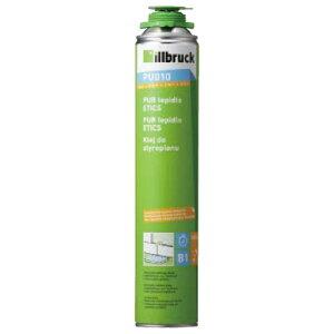 発泡ウレタンフォーム ボード断熱材用接着剤 PU 010 750ml 12本入 1液タイプ専用ガン必要 モルタルと接着剤を混合する必要がなし ABC Dワ 代引不可