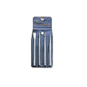 Mokuba モクバ タガネ A-6 タガネセット 4PC (平タガネ13mm センターポンチ10×150mm 釘〆3mm ブリックポンチ) 三富D