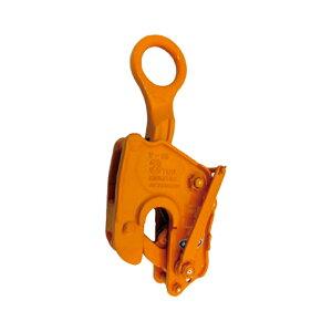 【代引不可】三木ネツレン 竪吊クランプ V25L型 ワンタッチ安全ロック式 V25L10B 使用荷重10t クランプ範囲0〜75mm 荷重に比例しクランプ力が増加する構造 コT