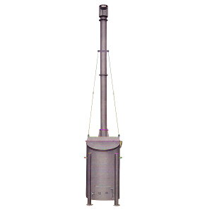 焼却炉 SFA-4II2型 240L 210kg 荷降ろし用重機をご用意ください 家庭用・オフィス・商店に最適 鈴木工業 個人宅配送不可 坂機K 代引不可