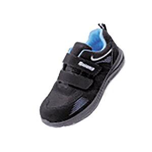 リキオニス 樹脂先芯入 安全スニーカー RS175 BK ブラック マジックタイプ 26.5cm かるがる軽オニス 力王 安全靴 三カ