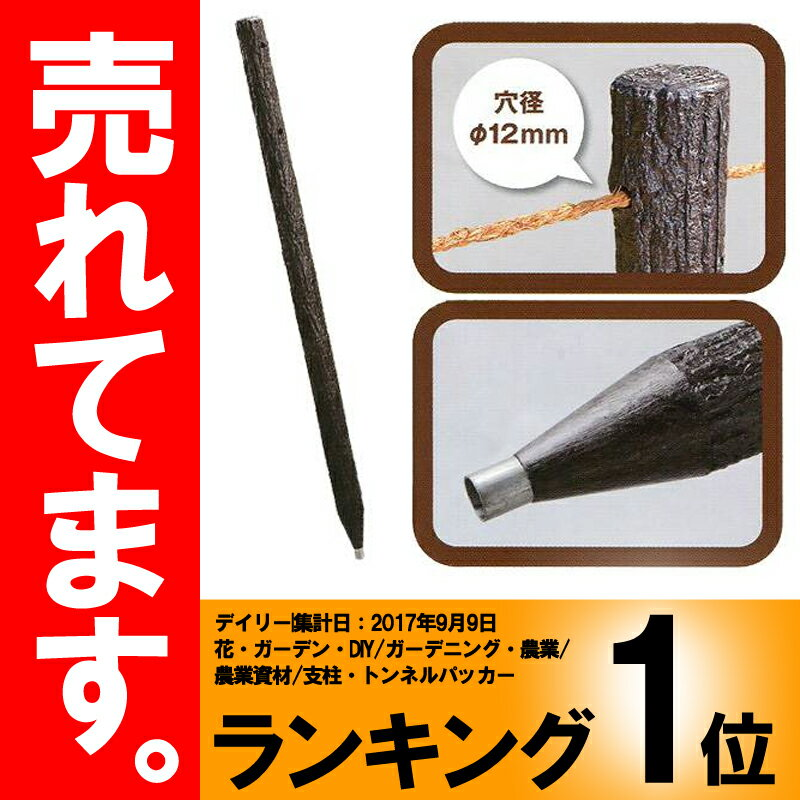 【個人宅配送不可】【5本】擬木杭 擬木くい120 直径 60×1200mm 2穴付 サンポリ【代引不可】