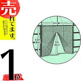 シングルファスナータイプ 防虫つまネット EX-2000 目合1mm 幅3000mm 高さ2500mm ビニールハウス入口用ネット カ施DPZZ