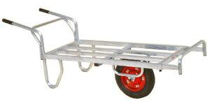 離島配送不可 ハラックス コン助 アルミ製 平形一輪車 CNB-65D ストッパー伸縮タイプ ブレーキ付 防J 代引不可