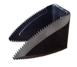 クボタ コンバイン用 ワラ切刃 両面刃 鋸目 2つ穴 ドラムカッター Kタイプ 両刃 鋸目 清製HPZZ