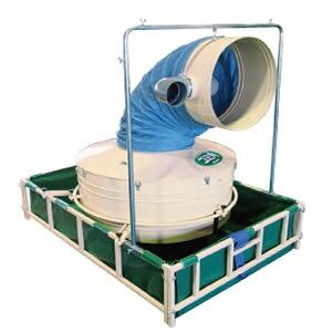 受取時フォークリフト必要 ゴミ角 GK-30SF 穀物乾燥機用集塵機 排風ダクト 排塵ダクト アタッチメント ホクエツ ホK オK 代引不可