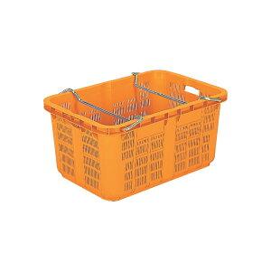個人宅配送不可 本州限定価格 5個 サンテナーA#120 PP オレンジ積み重ね可能 ハンドル付 三甲 サンコー カ施 代引不可