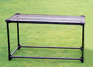 栽培棚 小 軽量 パイプテーブル (天面: 金網 メッシュ ) いちご 等の 高設栽培 架台 、花卉の 花台 ベンチ 作業台 に カ施 代引不可