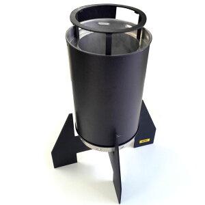 エコ楽ロケット ジャンボ PC特性ケース付 コンロ ストーブ バーベキュー BBQ キャンプ 災害対策 モバイル SUS430 アMD