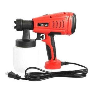 塗装 電動スプレーガン 100V TINOVA 直径1.8mm 直径2.6mm ノズル付き 家庭用 小型 水性 油性塗料対応 フTD
