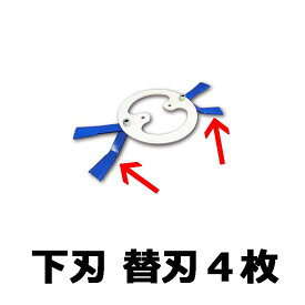 【フリー刃用部品】【0485】4枚入 下刃替刃セット マックス 355 フリー刃 ウィングモア用 三陽金属 三冨D