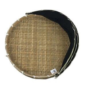 ネット付き 干物用 竹ざる 直径65cm 梅干し 干し野菜 一夜干しに 梅干しざる 盆ざる 網付 渋YD