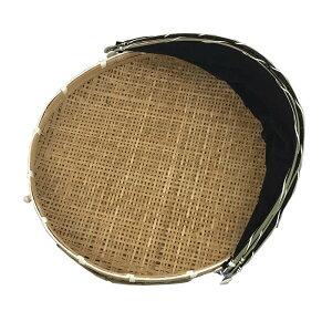 ネット付き 干物用 竹ざる 直径58cm 梅干し 干し野菜 一夜干しに 梅干しざる 盆ざる 網付 渋YD