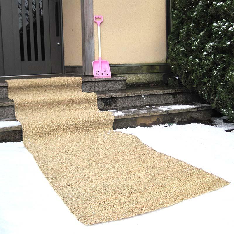 【ワイド】コンパル ワイド 滑り止マット 幅80cm 長さ3m 雪 滑りにくい安心な通路を確保 アサノヤ産業 PD