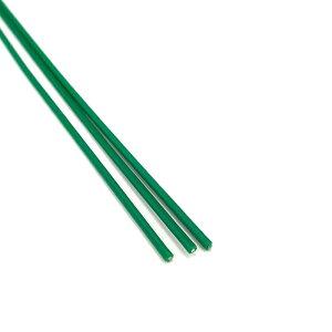 バインド線 特太 緑 200m 0.8×1.5mm #21 工業用 結束線 バン線 棚線 山B 代引不可