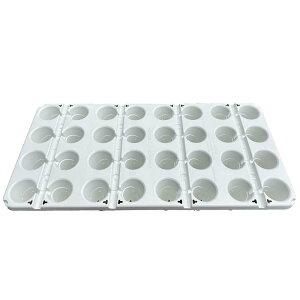 10枚 カタツムリポット C型24口 510×340×100 白 イチゴ育苗 フクスイ タ種 個人宅配送不可 代引不可