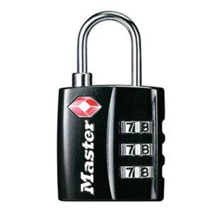 マスターロック TSAロック ナンバー可変式 4680JADBLK TSA ロック 鍵 防犯 旅行 ナンバー可変式 Master Lock アMD