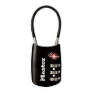 マスターロック TSAロック ナンバー可変式 ブラック 4688JADBLK TSA ロック 鍵 防犯 旅行 ナンバー可変式 Master Lock アMD