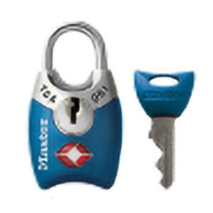 マスターロック TSAロック シリンダー式 ブルー 4689JADBLU TSA ロック 鍵 防犯 旅行 Master Lock アMD