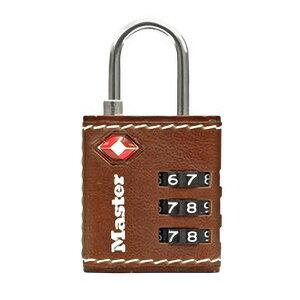 マスターロック TSAロック ナンバー可変式 ブラウン レザー調カバー付 4692JADBRN TSA ロック 鍵 防犯 旅行 カバー付 レザー Master Lock アMD
