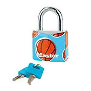 24個入 マスターロック 南京錠 シリンダー式 プリントパターン バスケットボール 9130EURDPSP-B 南京錠 防犯 Master Lock アMD