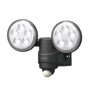 在庫限り LED センサーライト LED-AC208 4.5W×2灯 12個 防犯 玄関 セキュリティ センサー 自動点灯 ムサシ 福KD