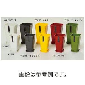 北海道配送不可 20個 #1501 プラスチックポット JENA 鉢と皿セット 6号 チョコレートブラック 外径60mm 高さ282mm 鉢 明和 明W 代引不可