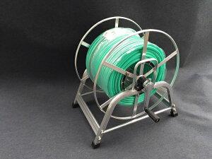 アルミ製動噴ホースリールセット SAL-GH150 グリーン軽量スプレーホース 5.0Mpa 8.5mm×100m 金具付 防J 代引不可