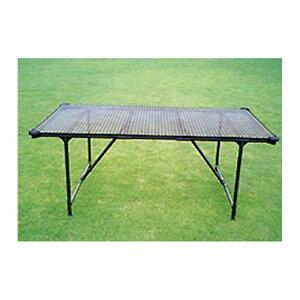 栽培棚 大 軽量 パイプテーブル (天面: 金網 メッシュ ) いちご 等の 高設栽培 架台 、花卉の 花台 ベンチ 作業台 に カ施 代引不可