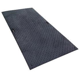 納期約1ヶ月 法人限定特価 工事用 樹脂製 敷板 Wボード 片面凸 1x2 1000x2000x15 黒 工事 現場 建築 工場 国内生産 ウッドプラスチックT 代引不可