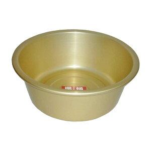 湯桶 24cm 前川金属工業所 アルミ製 風呂桶 金TD