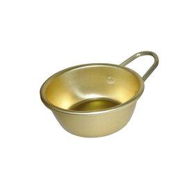 アルマイト マッコリカップ 手付 13cm ゴールド 前川金属工業所 金TD